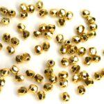 0150165 Aurum ( goud coated) facet 3 mm.-0