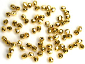 0150165 Aurum ( goud coated) facet 3 mm.-0