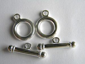 0160012 Kapittelslotjes zilverkleur 1 Pc.-0