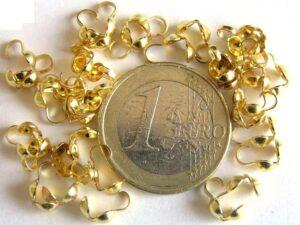 0160031 Kalotjes goudkleur 25 Pc.-0