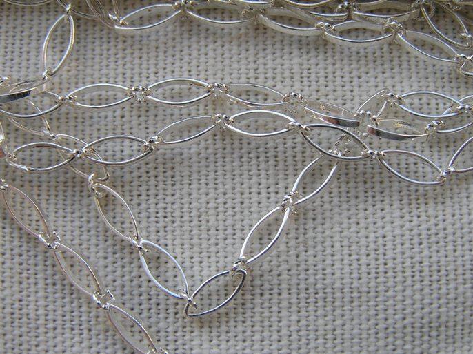0160040 silverplated Jasseron 8 x 3 mm-0