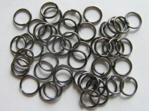 0160045 Black Nickel ringetjes 6,5 mm.( nikkelvrij)-0