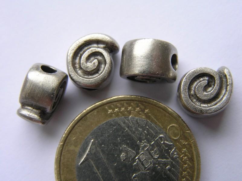 0200004 Oud zilverkleurig metalen tussenstuk/kraal-0