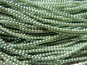 03-132-19001-70059 Shiny Light Green Glass Pearl 150 Pc.-0