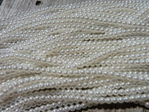 03-132-19001-70402 Shiny White glass Pearl 150 Pc.-0