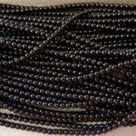 03-132-19001-70409 Shiny Black Glass Pearl 150 Pc.-0