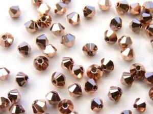 03-MC-00010-27100 Bicones Crystal FULL Capri Gold 50 Pc-0