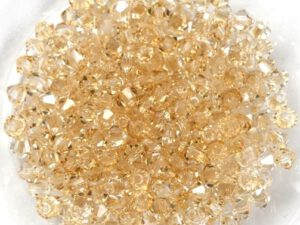 03-MC-00010-23501 Bicones Crystal Honey. 50 Pc-0