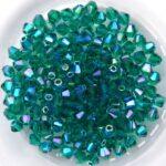 03-MC-50730-28701×2 Bicones Emerald 2xAB 50 Pc.-0