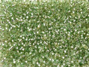 11-0-18256 Silver Lined Green Preciosa Rocailles 10 gram-0
