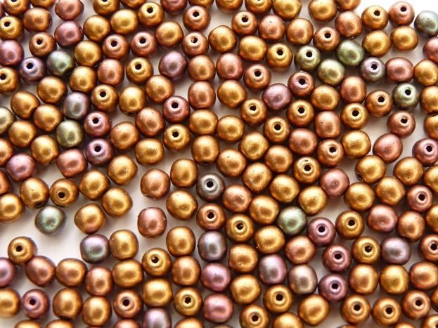 04-R-00030-01640 Silky Metallic Purple Gold Mix round 4 mm. 120 Pc.-0