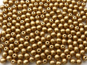 04-R-00030-01710 Silky Gold round 4 mm. 120 Pc.-0