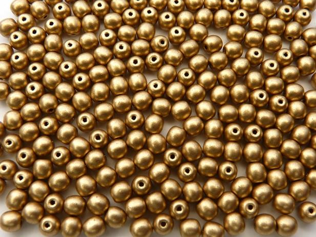 04-R-00030-01710 Silky Gold round 4 mm. 120 Pc.-0