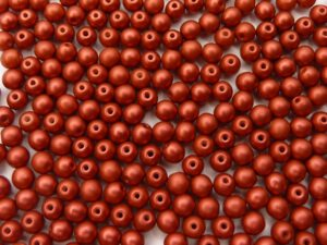 04-R-00030-01890 Lava Red round 4 mm. 120 Pc.-0