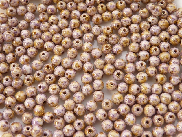 04-R-03000-15695 Round-Lila Gold Luster round 4 mm. 100 Pc.-0