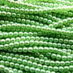 04-132-19001-70461 Shiny Light Olivine Glass Pearl. 120 St.-0
