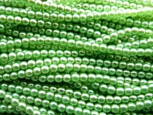 04-132-19001-70461 Shiny Light Olivine Glass Pearl. 120 St.-0
