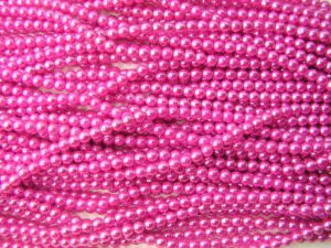 04-132-19001-70496 Shiny Hot Pink 4 mm. 120 stuks-0