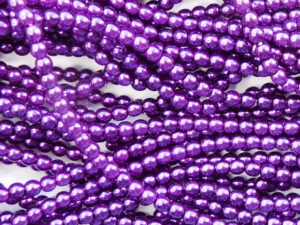 04-132-19001-70822 Shiny Purple Glass Pearl 120 Pc.-0