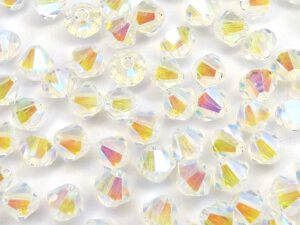 04-MC-00010-28701x2 Bicone, Crystal 2 x AB 4 mm. 50 Pc.-0