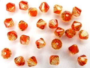 04-MC-09002 Bicone, Fire Opal 4 mm. 50 Pc.-0