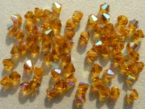 04-MC-10070-28701 Bicones Topaz AB. 4 mm. 50 Pc.-0