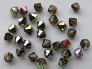04-MC-10220-28136 Bicone, Smoked Topaz Vitrail Medium, 4 mm. 50 Pc.-0