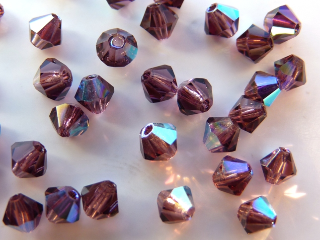 04-MC-20070-28701 Bicone Dark Amethyst AB 50 Pc.-0