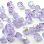 04-MC-20300-28701 Bicone, Violet AB 4 mm. 50  Pc.-0