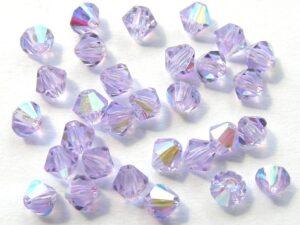 04-MC-20300-28701 Bicone, Violet AB 4 mm. 50 Pc.-0