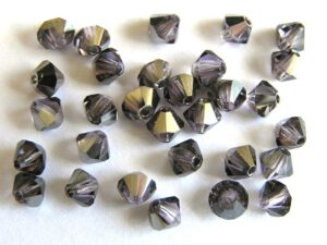 04-MC-20500-27401 Bicone, Tanzanite Chrome 4 mm. 50 Pc.-0
