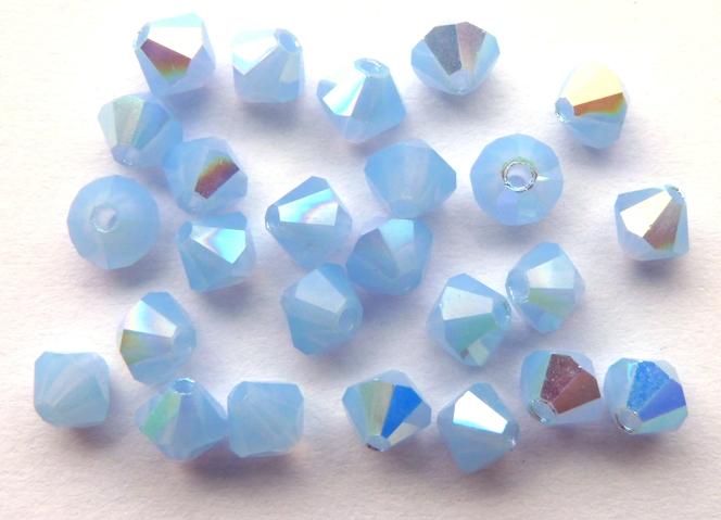 04-MC-31000-28701 Bicone Sky Blue Opal AB 4 mm 50 Pc-0