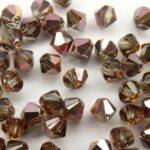 04-MC-40010-27101 Bicone Light Black Diamond Capri Gold. 50 Pc.-0