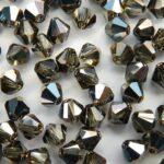 04-MC-40020-27637 Bicone, Black Diamond Blue Sky 4 mm. 50 Pc-0