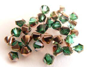 04-MC-50720-27101 Bicone Emerald Capri Gold 50 pc 4 mm-0