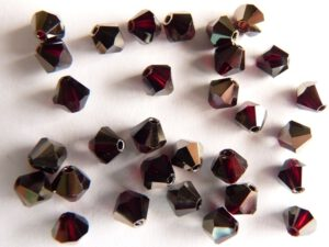 04-MC-90110-22601 Bicone, Garnet Satin, 4 mm. 50 Pc.-0
