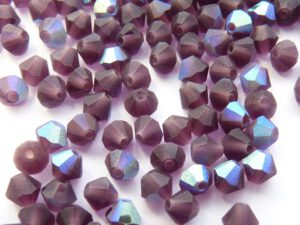 04-MC-20080-28771 Matte Dark Amethyst AB Bicones 50 Pc.-0