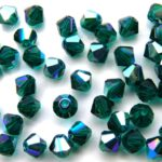04-MC-50730-28701 Bicone Emerald AB 50 Pc.-0