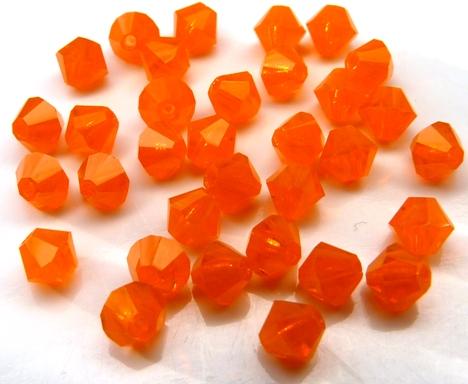04-MC-81260 Bicone, Orange Opal 4 mm. 50 Pc.-0