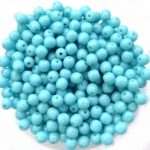 04-R-63030 Opaque Blue Turquoise round 4 mm. 100 pc.-0