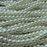06-132-19001-70400 White 6 mm. Glass Pearl 100 Pc.-0