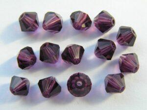 06-MC-20050 Bicones Amethyst 6 mm. 24 Pc.-0