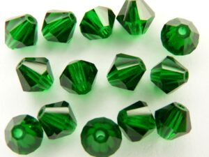 06-MC-50140 Bicones Smaragd ( Medium Emerald) 24 Pc.-0