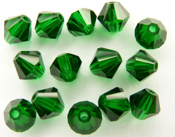 06-MC-50140 Bicones Smaragd ( Medium Emerald) 24 Pc.-0