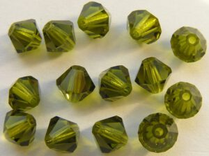 06-MC-50230 Bicones Olivine 6 mm. 24 Pc.-0