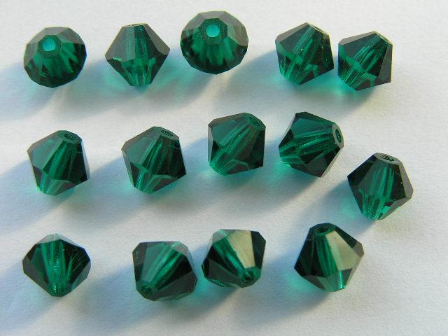 06-MC-50730 Bicones Emerald 6 mm. 24 Pc.-0