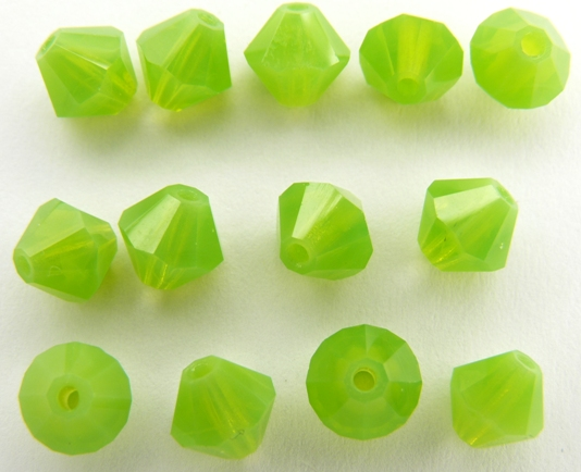 06-MC-51010 Bicones Green Opal 24 Pc.-0