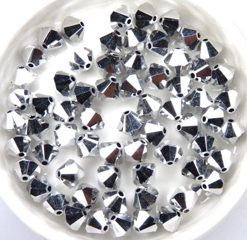 06-MC-00010-27000 Bicones Crystal Full Labrador ( silver) 24 Pc-0