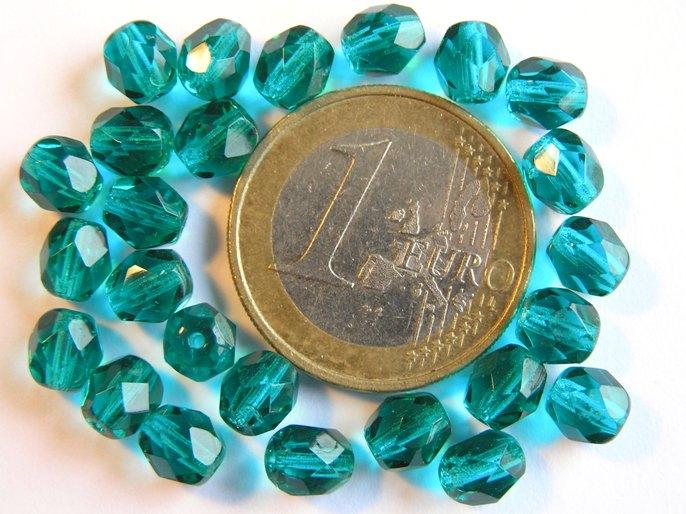 0100373 Emerald groen facet 6 mm.-0