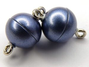 Acryl Magnetic Clasp: Blue Mat 10 mm.-0